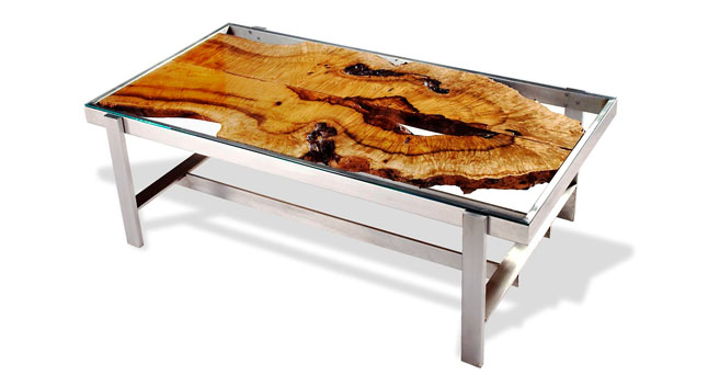 exotic wood furniture - organic, custom furniture art